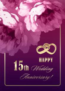 15th Wedding Anniversary.Happy 15th Anniversary Gifts On Zazzle Au