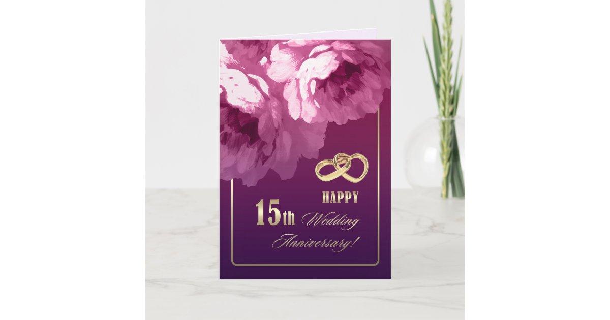 15th Wedding Anniversary Greeting Cards Zazzle
