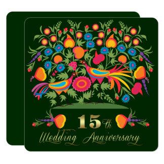 15th Wedding Anniversary Party Invitations