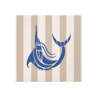 15x15cm blue marlin seaside wall plaque canvas canvas prints