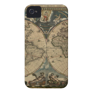 1600s original painted world map iPhone 4 covers