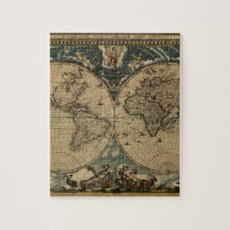 1600s original painted world map jigsaw puzzle