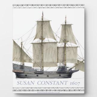 1607 susan constant plaque