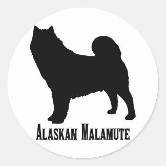 1615112006 Alaskan Malamute (Animales) Classic Round Sticker