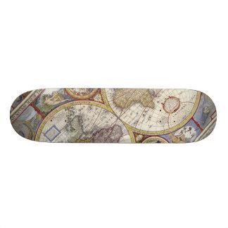 1626 Vintage World Map Skateboard