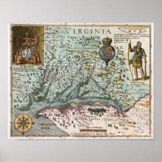 1627 Virginia Map Posters