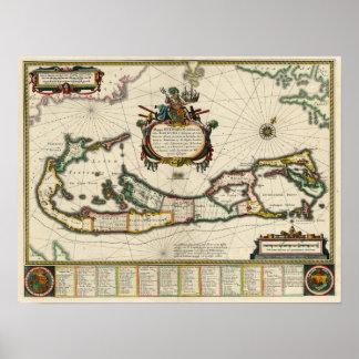 1630 Map of Bermuda Poster