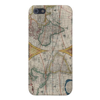 1641 World Map iPhone 5 Cases