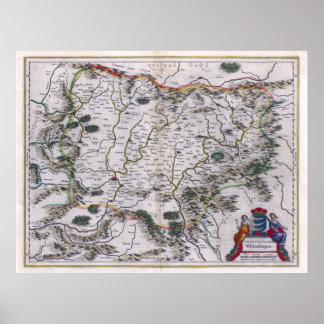 1647 Transylvania Map Print