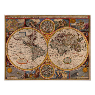 1651 World Map Posters