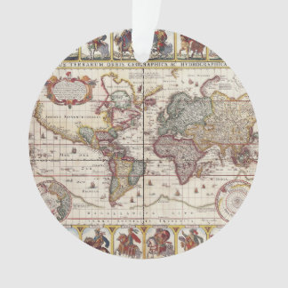 1652 Map of the World, Doncker Sea Atlas World Map Ornament