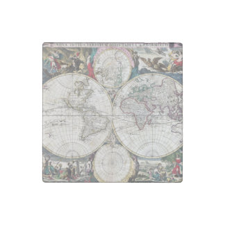 1685 Bormeester Map of the World Stone Magnet