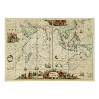 1690 Sea Chart from Dutch East India Company