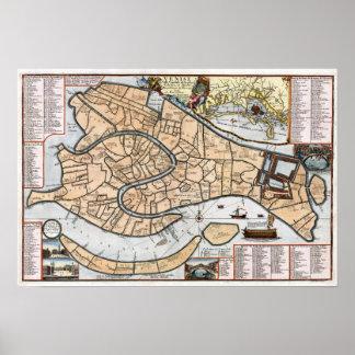 1695 Venice City Plan Poster