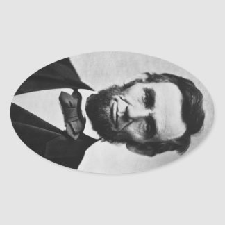 16 Abraham Lincoln Oval Sticker