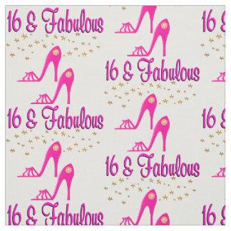 16 AND FABULOUS 16TH BIRTHDAY DESIGN FABRIC