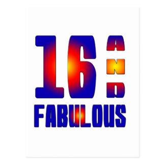 16 And Fabulous Postcard