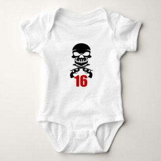 16 Birthday Designs Baby Bodysuit