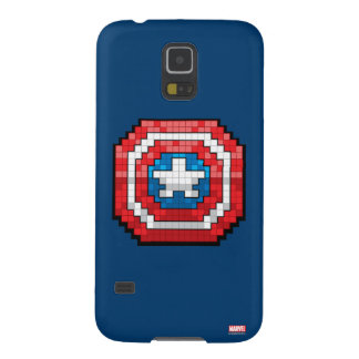 16-Bit Pixelated Captain America Shield Galaxy S5 Cases