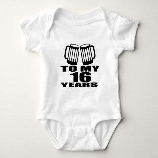 16 Cheers To My Birthday Baby Bodysuit
