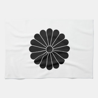 16 chrysanthemum tea towel