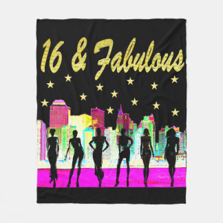 16 & FABULOUS NYC DIVA DESIGN FLEECE BLANKET