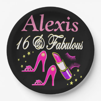 16 & FABULOUS PERSONALIZED PARTY PLATES