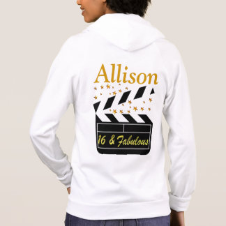 16 & FABULOUS SUPER STAR PERSONALIZED HOODIE