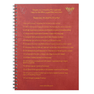 16 golden rules of the Business Analyst Charter Notebook