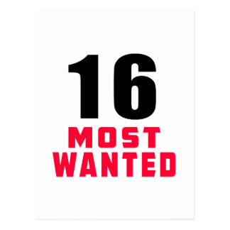16 Most Wanted Funny Birthday Design Postcard