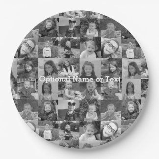 16 Photo Collage - You square photos or instagram Paper Plate