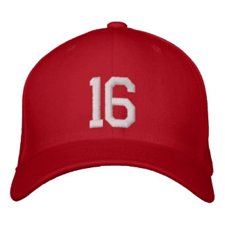 16 Sixteen Embroidered Hat
