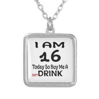 16 Today So Buy Me A Drink Silver Plated Necklace