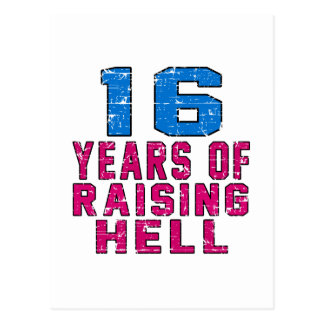 16 Years of raising hell Postcard