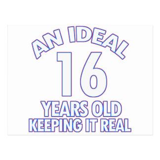 16 YEARS OLD BIRTHDAY DESIGNS POSTCARD