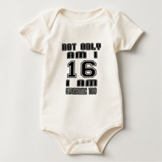 16a16 I AM AWESOME TOO Baby Bodysuit