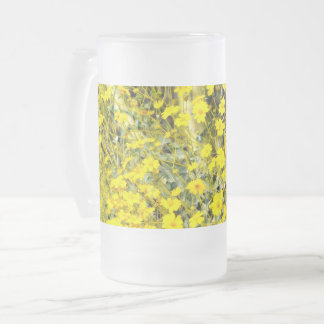 """16oz Frosted Glass Mug in """"Wildflowers"""""""