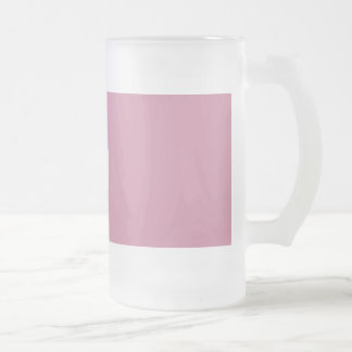 16Oz Frosted Glass Mug-Red Rose Frosted Glass Beer Mug