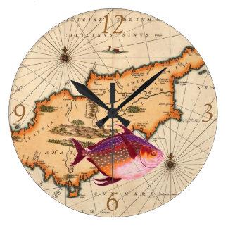 16th/17th Century Nautical Map Clock