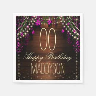 16th 18th 21st 30th 40th 50th 60th 70th Birthday Disposable Napkins