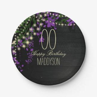 16th 18th 21st 30th 40th 50th 60th 70th Birthday Paper Plate