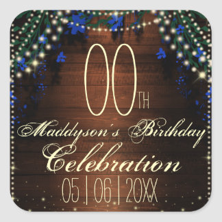 16th 18th 21st 30th 40th 50th 60th 70th Birthday Square Sticker