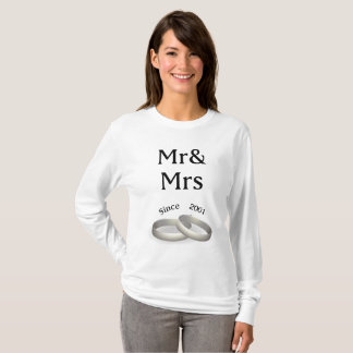 16th anniversary matching Mr. And Mrs. Since 2001 T-Shirt