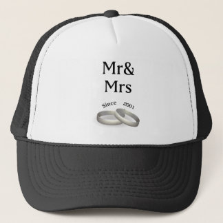 16th anniversary matching Mr. And Mrs. Since 2001 Trucker Hat