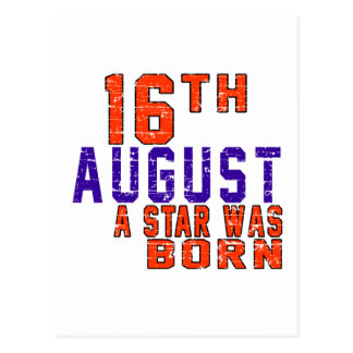 16th August a star was born Post Card