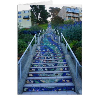 16th Avenue Tiled Steps #5 Card