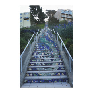 16th Avenue Tiled Steps Canvas