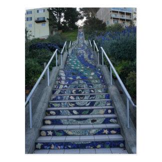 16th Avenue Tiled Steps Postcard