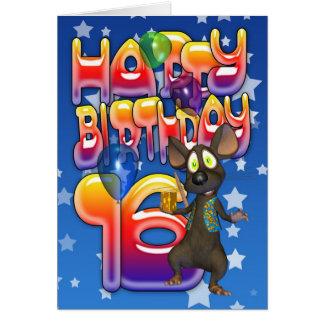 16th Birthday Card, Happy Birthday Card