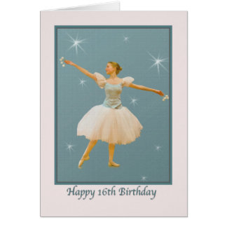 16th Birthday Card with Ballet Dancer